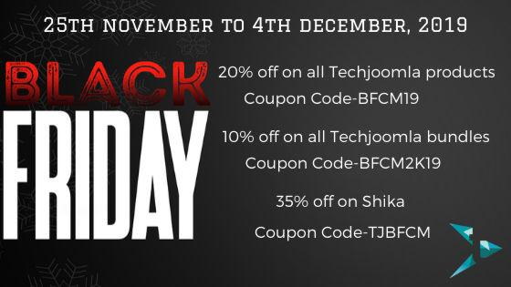 Techjoomla Black Friday and Cyber Monday 2019 deal 35