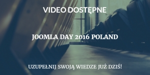 Video JoomlaDay 2016 Poland